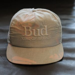 "Budweiser "" Bud "" Genuine Snapback Hat"